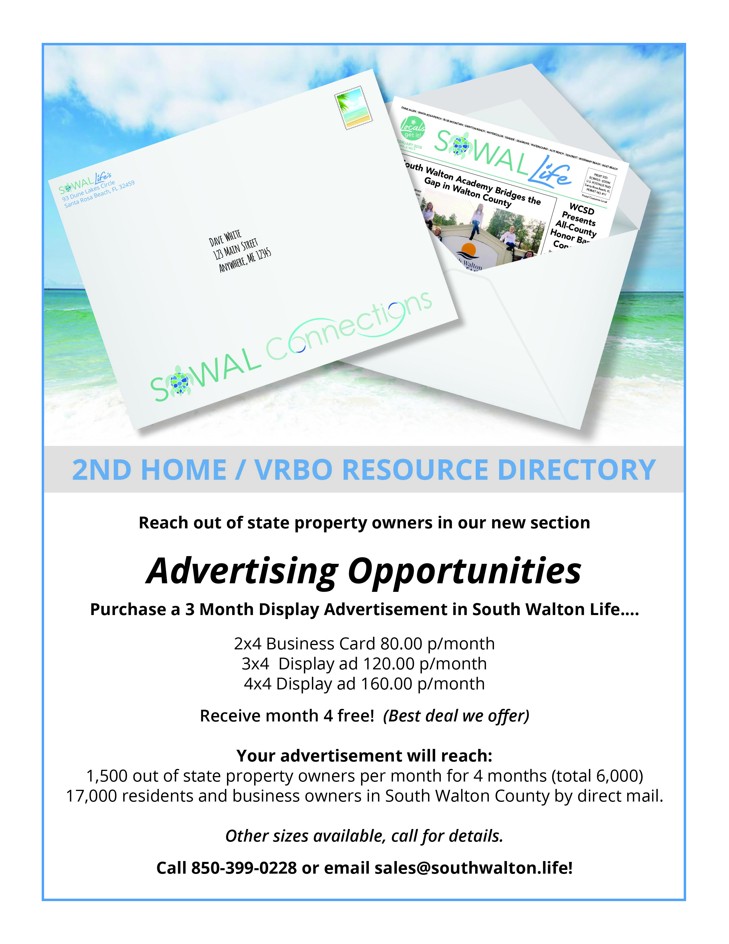 South Walton Life Connections Rate Card