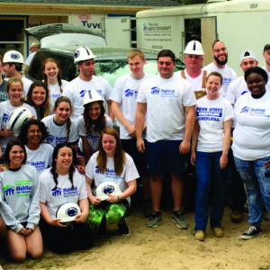 Forty Students Build Homes with Habitat Walton County Over Spring Break