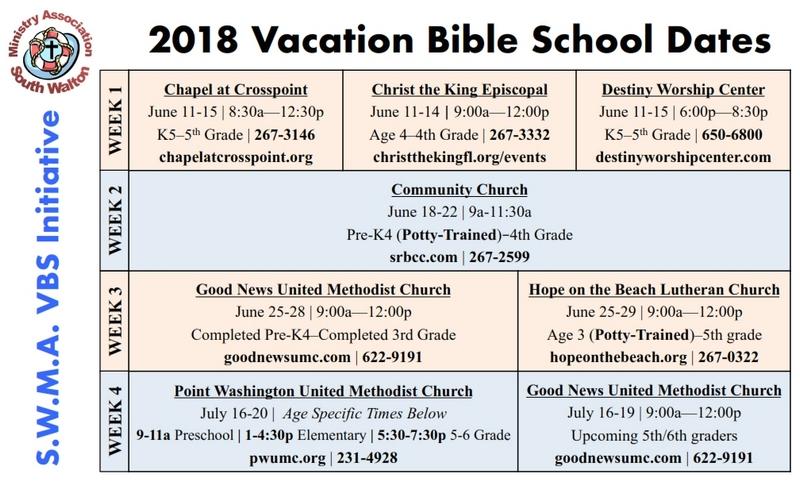 SWMA Announces 2018 Vacation Bible Schools