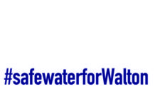 Safe Water For Walton Blue Font Logo