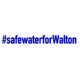 Safe Water For Walton Blue Font Logo