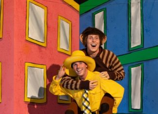 Dylan Van Slyke (curious George) And Cameron Gray (man In Yellow Hat)