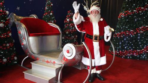 Santa's Arrival By Helicopter At Norwalk Town Square