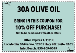 30a Olive January 2019 Coupons