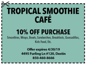 Tropical Smoothie April 2019