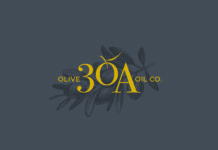 30a Olive Oil Co Identity Gray Gold