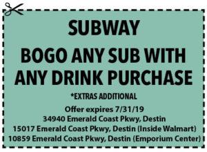 Subway July 2019