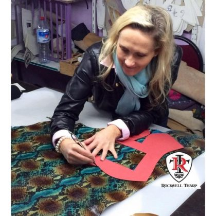 Kristi Rockwell At One Of Our Factories In Europe, Aligning And Cutting Patterns For Our World Renowned, Passion Ranch Boot Collection (1)