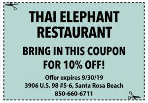 Thai Elephant Sept 2019 Coupons2