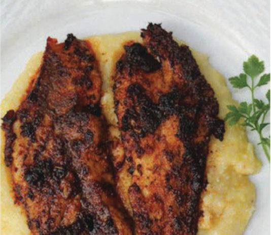 Redfish And Smoked Gouda Grits