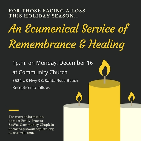 2019 Service Of Remembrance Social Media Graphic