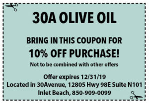 30a Olive Oil Dec 2019 Coupons