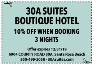 30a Suites Dec 2019 Coupons