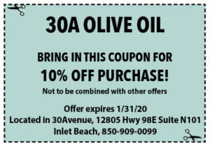 30a Olive Oil Coupon Sowal Jan 2020