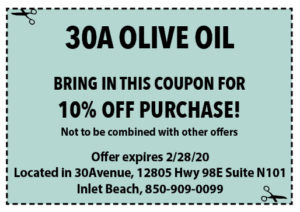 30a Olive Oil Coupons Sowal February 2020