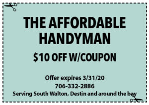 Sowal March 2020 Coupons Affordable Handyman