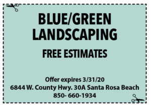 Sowal March 2020 Coupons Blue Green Landscape
