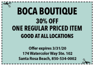 Sowal March 2020 Coupons Boca