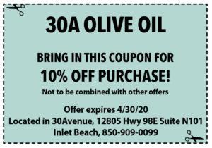 Sowal April 2020 Coupons 30a Olive