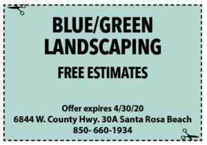 Sowal April 2020 Coupons Blue Green