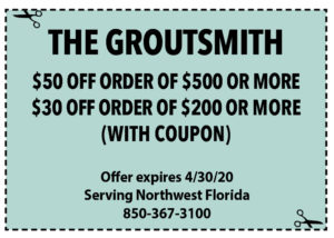 Sowal April 2020 Coupons Groutsmith