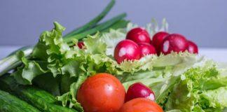 Salad Fresh Vegetables Tomatoes Green Food Healthy Vegetarian Diet