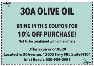 Coupons Sowal June 2020 30a Olive Oil