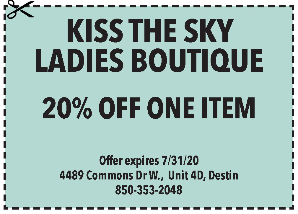 Kiss The Sky July Coupon