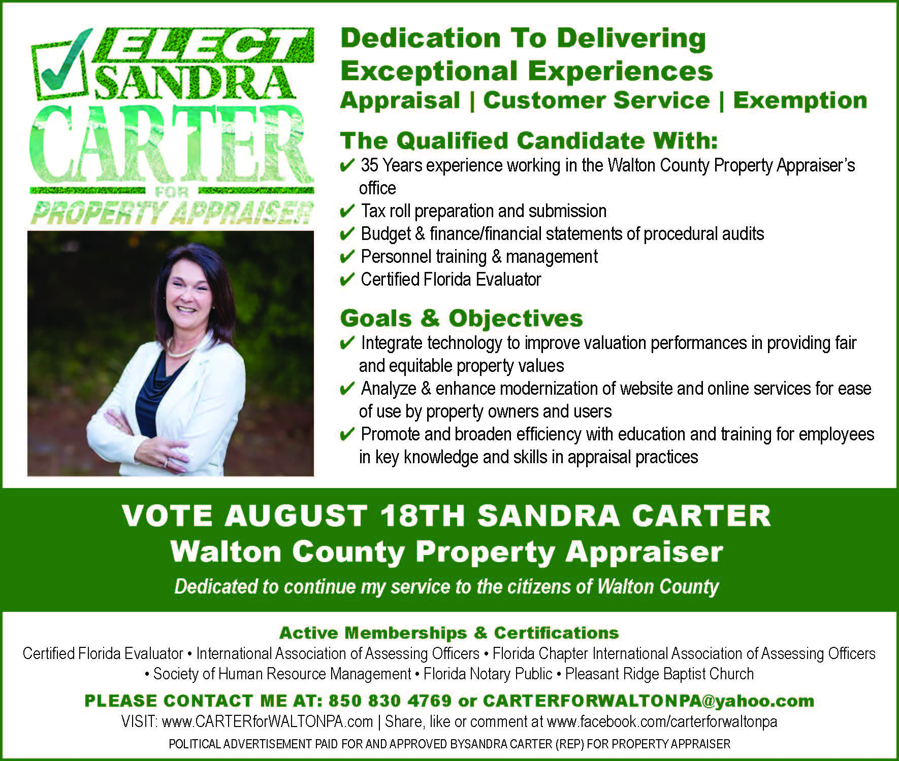 3x5 Sandra Carter
