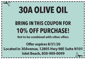 Sowal August 2020 Coupons 30a Olive Oil