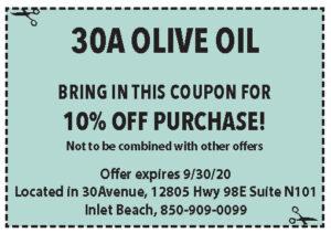 30a Olive Oil Coupons Sowal Sept 2020