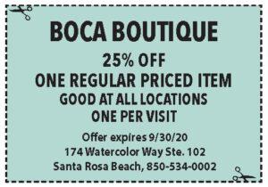 Boca Coupons Sowal Sept 2020
