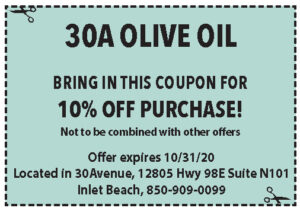 Coupons Sowal Oct 2020 30a Olive Oil