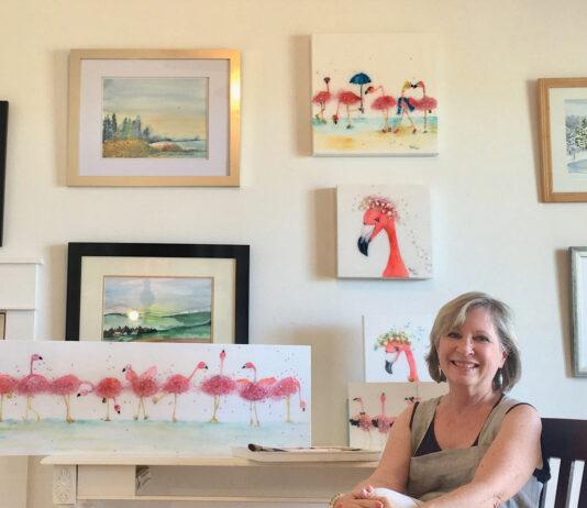 C Gray In Her Studio