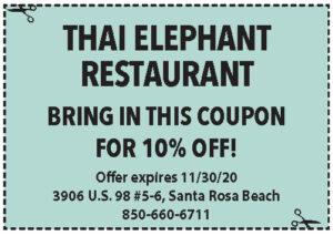 Sowal Nov 2020 Coupons Thai Elephant