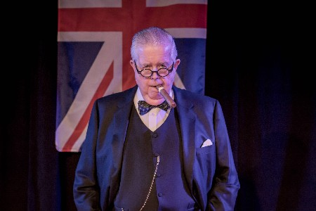 Bruce Collier As Winston Churchill