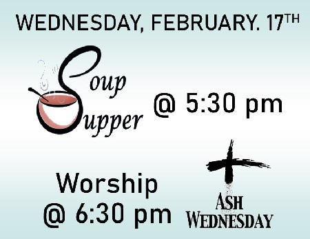 21 Soup Supper Ash Wednesday