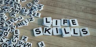 Life Skills Written In Letter Tiles Wood