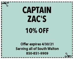Sowal Coupons Capt Zacs April 2021